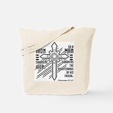 Iron Sharpens Iron Tote Bag