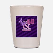60th Birthday Butterfly Shot Glass
