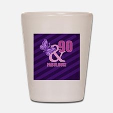 90th Birthday Butterfly Shot Glass