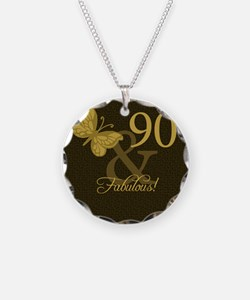 90th Birthday Butterfly Necklace