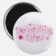 """""""Decorating Diva"""" [pink] Magnet"""