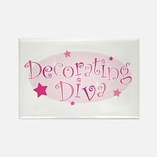"""Decorating Diva"" [pink] Rectangle Magnet"