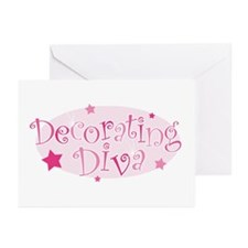 """Decorating Diva"" [pink] Greeting Cards (Package o"