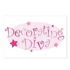 """""""Decorating Diva"""" [pink] Postcards (Package of 8)"""