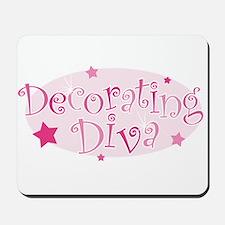 """Decorating Diva"" [pink] Mousepad"