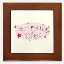 """""""Decorating Diva"""" [pink] Framed Tile"""
