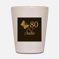 80th Birthday Butterfly Shot Glass