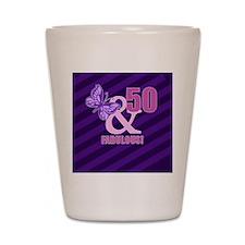 50th Birthday Butterfly Shot Glass