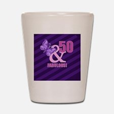 50th Birthday Butterfly Shot Glass