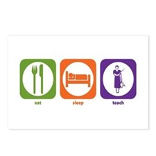 Eat Sleep Teach Postcards (Package of 8)