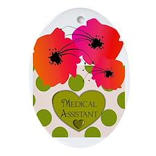 Medical assistant blanket Oval Ornament