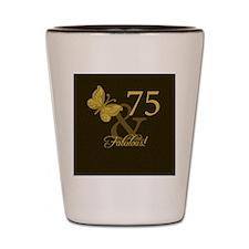 75th Birthday Butterfly Shot Glass
