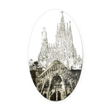 Sagrada Familia Oval Car Magnet
