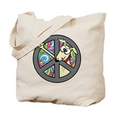 Greystock peace sign Tote Bag
