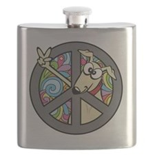 Greystock peace sign Flask