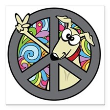 """Greystock peace sign Square Car Magnet 3"""" x 3"""""""