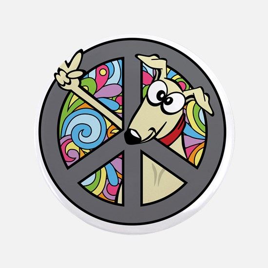 "Greystock peace sign 3.5"" Button"
