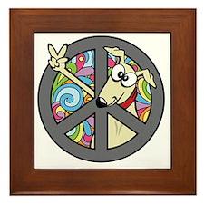 Greystock peace sign Framed Tile