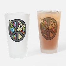 Greystock peace sign Drinking Glass