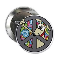 "Greystock peace sign 2.25"" Button"