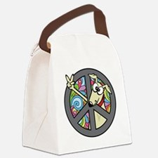 Greystock peace sign Canvas Lunch Bag