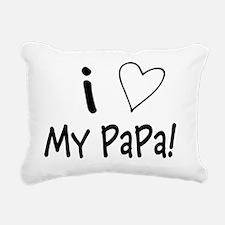 I Love My PaPa2 Rectangular Canvas Pillow