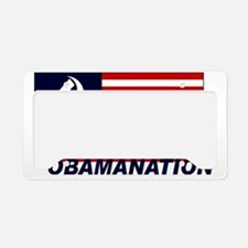 Obamanation License Plate Holder