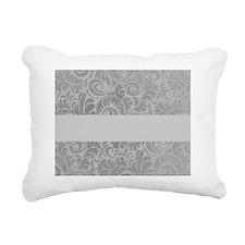 Blank gray damask Rectangular Canvas Pillow