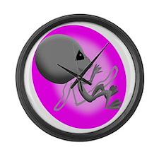 Alien Fetus Large Wall Clock
