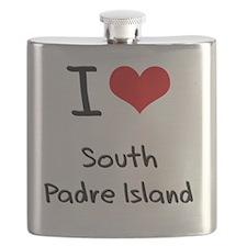 I Love SOUTH PADRE ISLAND Flask