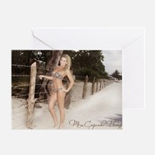 Barbed Wire Bikini Greeting Card