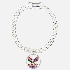 Italian American Charm Bracelet, One Charm