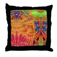 Aztec Temple Throw Pillow
