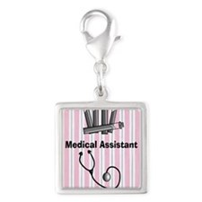 medical assistant blank 1 Silver Square Charm
