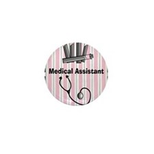 medical assistant blank 1 Mini Button