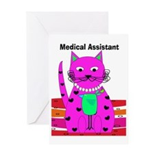 medical assistant cat 2 Greeting Card