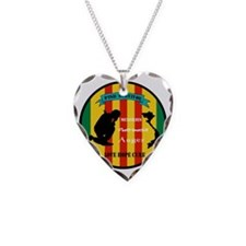 Vietnam PTSD Survivor Necklace Heart Charm