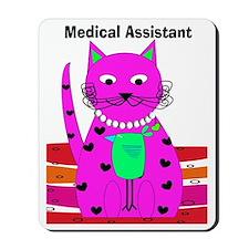 medical assistant cat 2 Mousepad