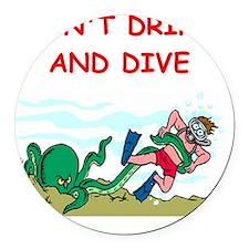 scuba,diving Round Car Magnet