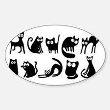 Cute cats Sticker (Oval)