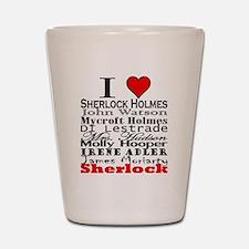 I Heart Sherlock Shot Glass