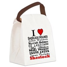 I Heart Sherlock Canvas Lunch Bag