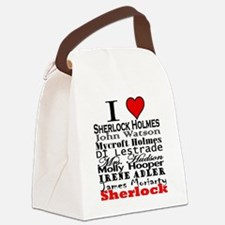 I Heart Sherlock Canvas Lunch Bag