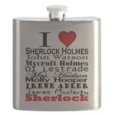 I Heart Sherlock Flask