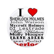 """I Heart Sherlock 3.5"""" Button"""