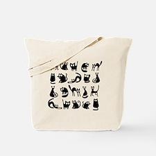 Funny cats Tote Bag
