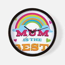 Mum Is The Best Wall Clock