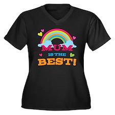Mum Is The B Women's Plus Size Dark V-Neck T-Shirt
