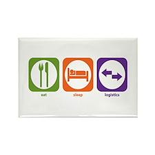 Eat Sleep Logistics Rectangle Magnet