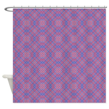 Colorful Blue And Pink Lattice Patt Shower Curtain By Admin CP37802842
